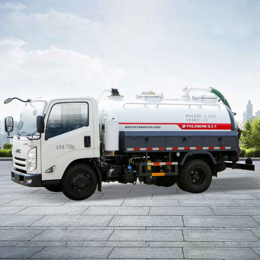 FULONGMA New Light-weight Fecal Suction Truck Came into the Market