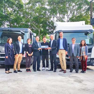 FULONGMA together with SCANIA launches the third-generation low-floor compression garbage truck in Hong Kong