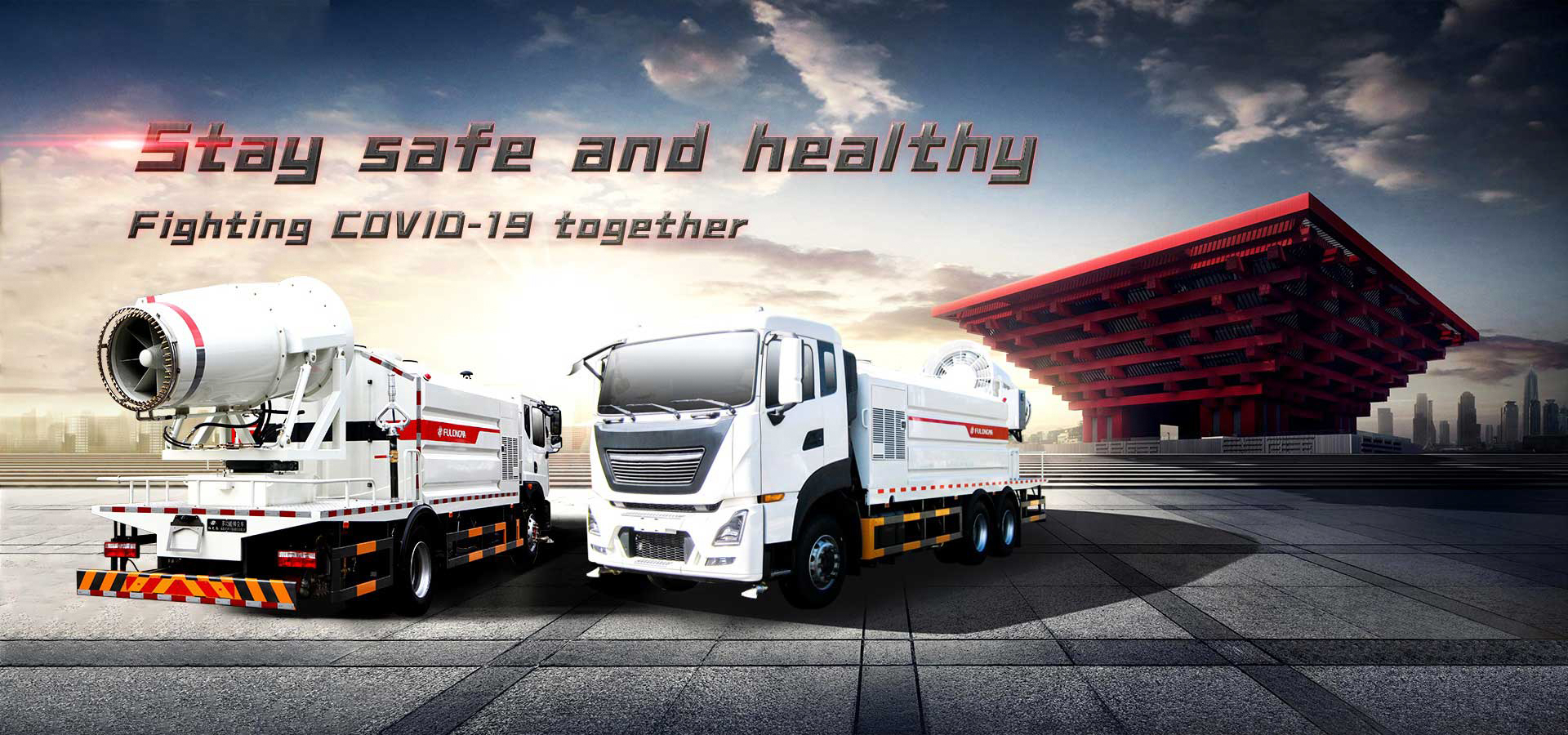 Multi-functional Dust Suppression Truck stay safe and healthy fighting COVID-19 together