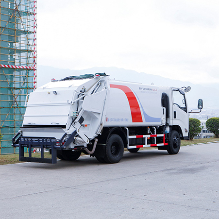 Garbage truck operation process and working principle