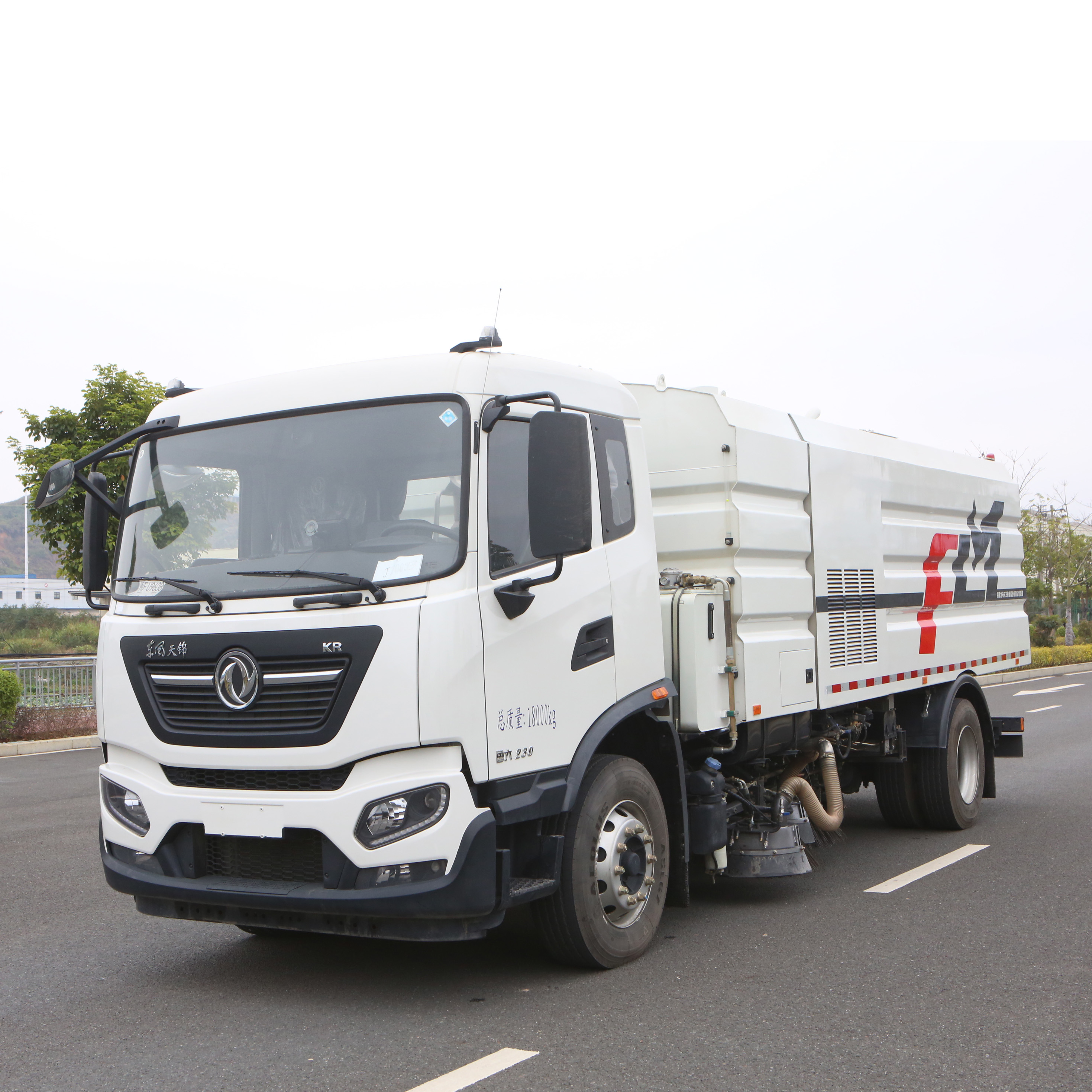 FULONGMA 18-ton latest street sweeper truck function details and features