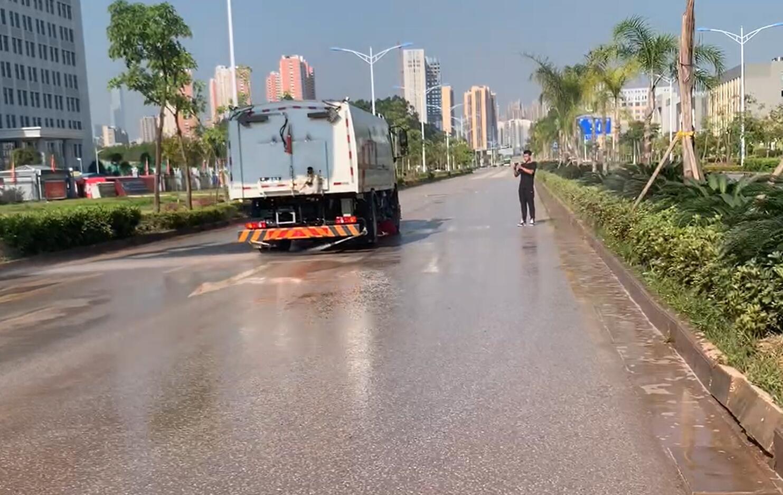 washing and sweeping trucks