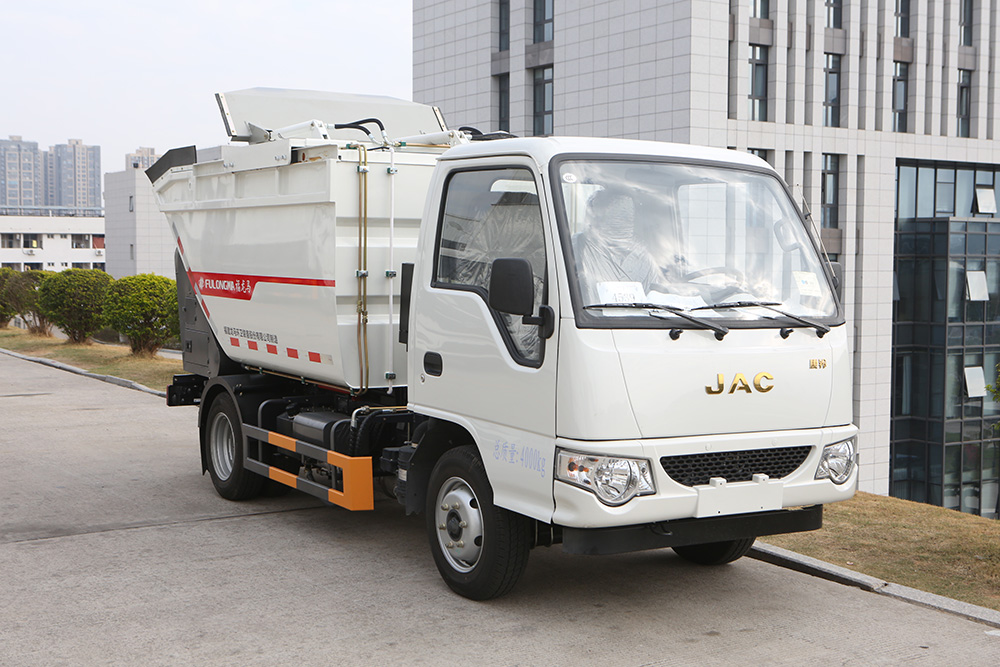 self-loading garbage truck