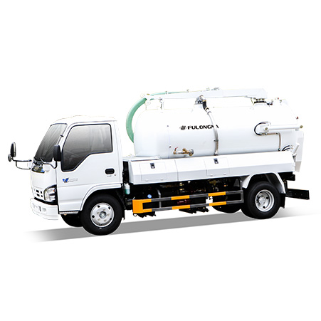 FULONGMA's latest 7-ton sewage suction truck function features and description
