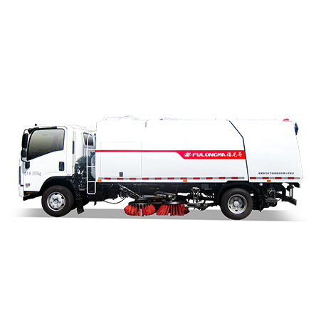 What are the configurations and advantages of FULONGMA's latest 11-ton road sweeper?