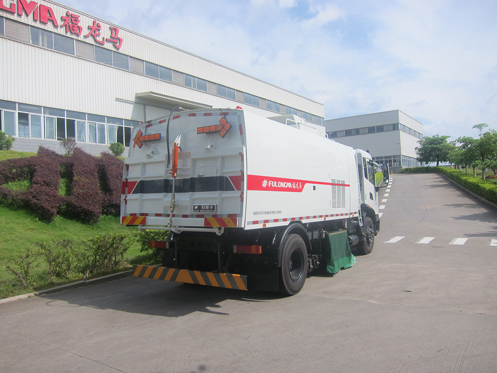 dry and wet sweeper truck